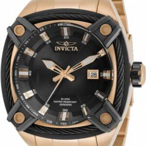 Invicta 31359 Bolt 50mm Reloj de acero inoxidable con esfera negra para hombre