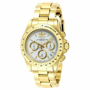 Invicta 7030 Signature Speedway Reloj cronógrafo de acero dorado para hombre