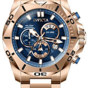 Invicta Speedway Reloj de acero inoxidable de cuarzo de 100 m en tono dorado rosa para hombre 32275
