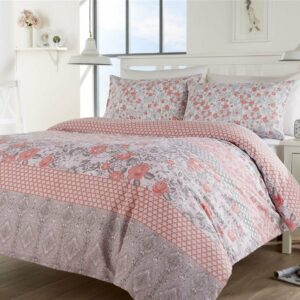 Juego de cama de tamaño doble Chelsea - Funda nórdica con dos fundas de almohada