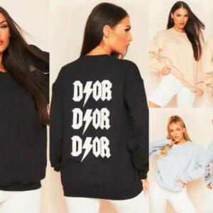 Las señoras de las mujeres imprimieron la camiseta de gran tamaño de la blusa del puente de la moda