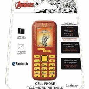 Marvel Avengers Iron Man Teléfono celular teléfono dual sim BLUETOOTH SMS antorcha Radio FM