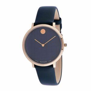 Movado 0607403 Reloj de cuarzo azul ultradelgado para mujer