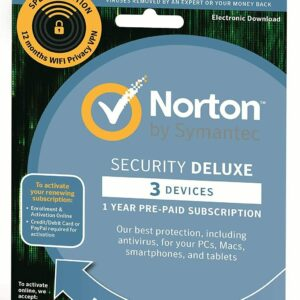 NORTON SECURITY DELUXE Y VPN PARA 3 DISPOSITIVOS PC 1 AÑO 2021 CORREO ELECTRÓNICO Reino Unido UE