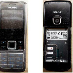 Nokia 6300 - Teléfono móvil plateado negro (Vodafone) (6243)