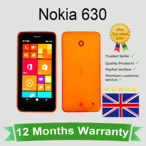 Nokia Lumia 630 desbloqueado Microsoft Windows Cell Mobile Phone 8GB Orange SIM GRATIS