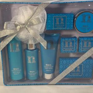 Nspa Reviving Deluxe lata de belleza de baño y cuerpo de lujo, muchos productos de spa NUEVO