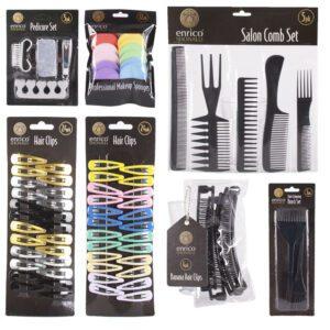 Productos de belleza esenciales Enrico Shonalli |  Accesorios para el cabello y esponjas de maquillaje