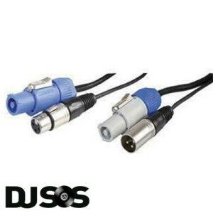Pulse PLS000509 10m Neutrik PowerCON y XLR Combi Lead Power + Cable de iluminación DMX