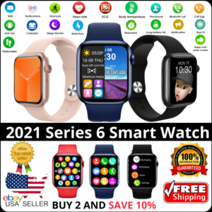 Reloj inteligente para iPhone iOS Android Teléfono Bluetooth Impermeable Fitness Watch 2021