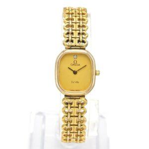Reloj vintage de cuarzo Omega De Ville para mujer 20,0 x 17,5 mm