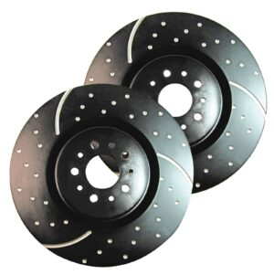 Rotores deportivos EBC GD / Discos de freno traseros mejorados con ranuras turbo (par) - GD371