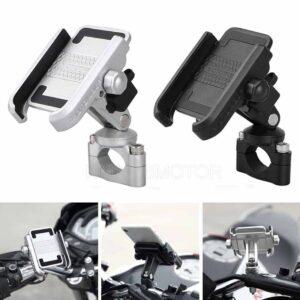 Soporte de bicicleta de motocicleta de aluminio Soporte de bicicleta MTB Manillar para teléfonos celulares GPS