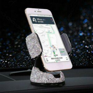 Soporte para teléfono 360 ° Accesorios Ajustable Bling Crystal Durable