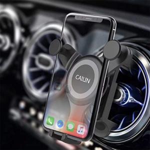 Soporte para teléfono móvil para automóvil Soporte para teléfono inteligente adecuado para aires acondicionados redondos