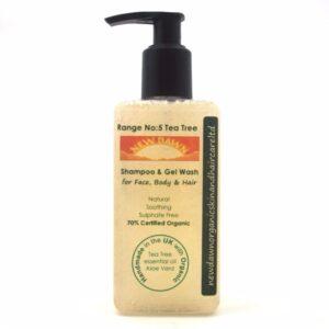 TEA TREE SHAMPOO & GEL WASH - Productos orgánicos hechos a mano para el cuidado del cabello New Dawn