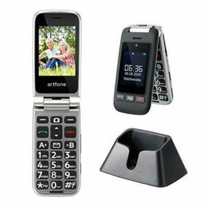 Teléfono celular grande de los mayores del teléfono móvil del botón, teléfono celular plegable del artfone con