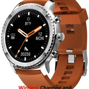 Tinwoo Smart Watch T20 Teléfonos Android / iOS, Bluetooth Health (TPU Band Brown)