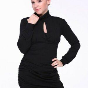 Vestido de maternidad negro elegante para mamá / túnica para madres que amamantan talla M (10-12UK)