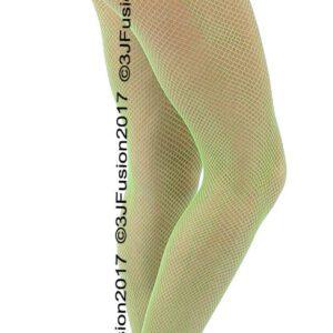 Medias de moda de rejilla para mujer de color verde claro ¡Gran precio!  Publicación rápida!  (EY)